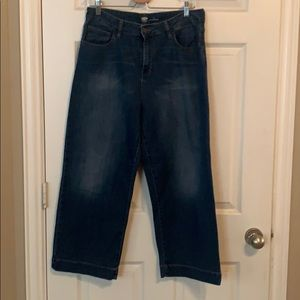 Old Navy wide leg cropped jeans